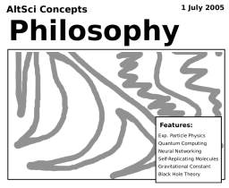 AltSci Concepts Philosophy