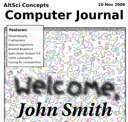 AltSci Concepts Scientific Journals